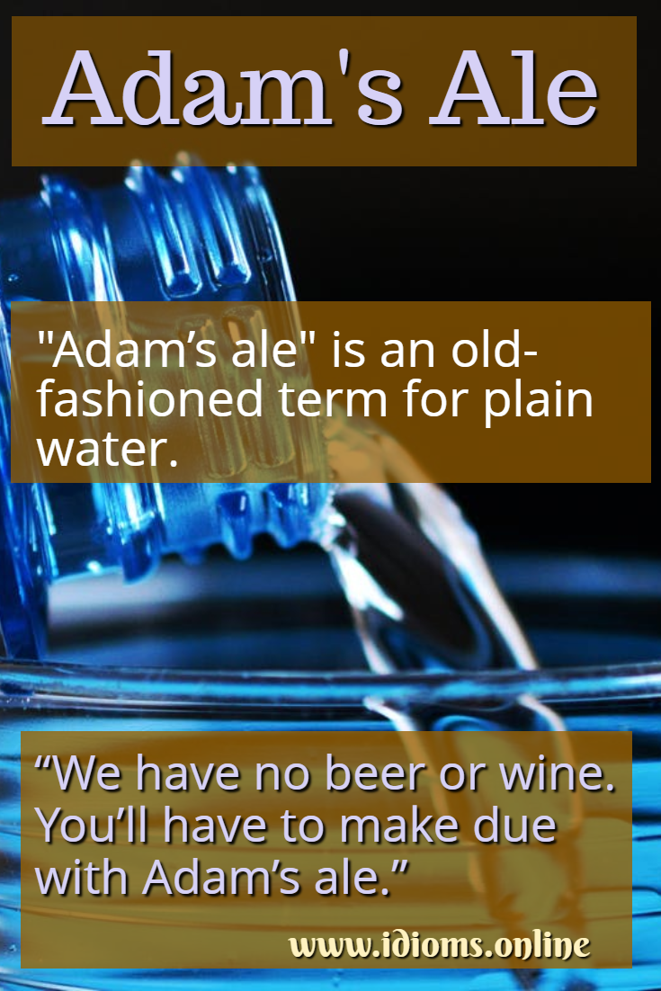 Adam's Ale idiom meaning