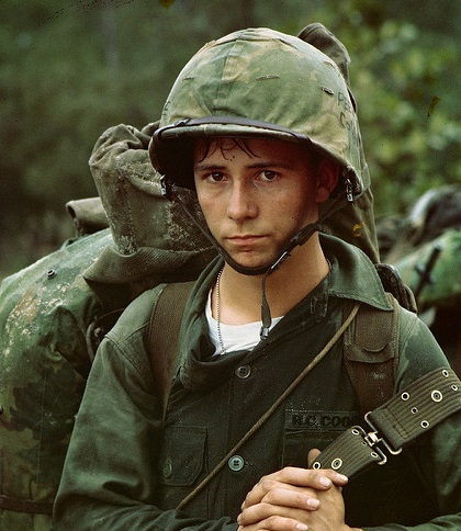 Young soldier in Vietnam - A babe in arms