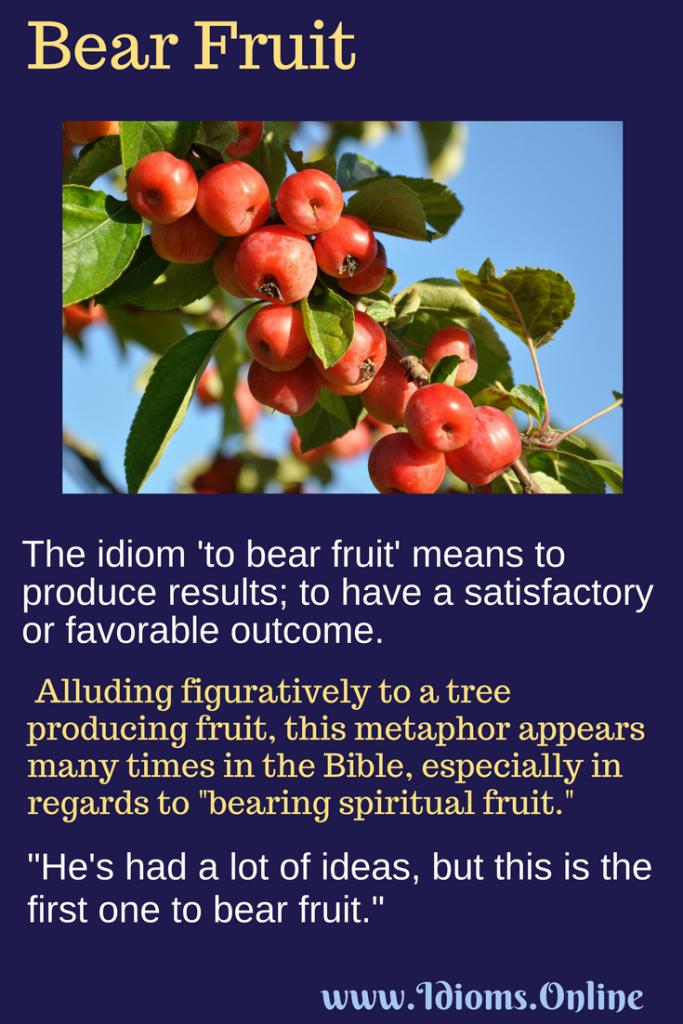 bear fruit idiom