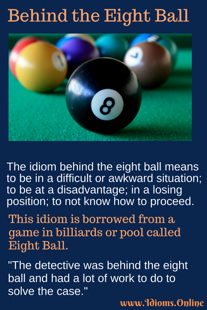 Behind the Eight Ball idiom