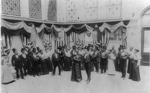 1897 Cakewalk in ballroom