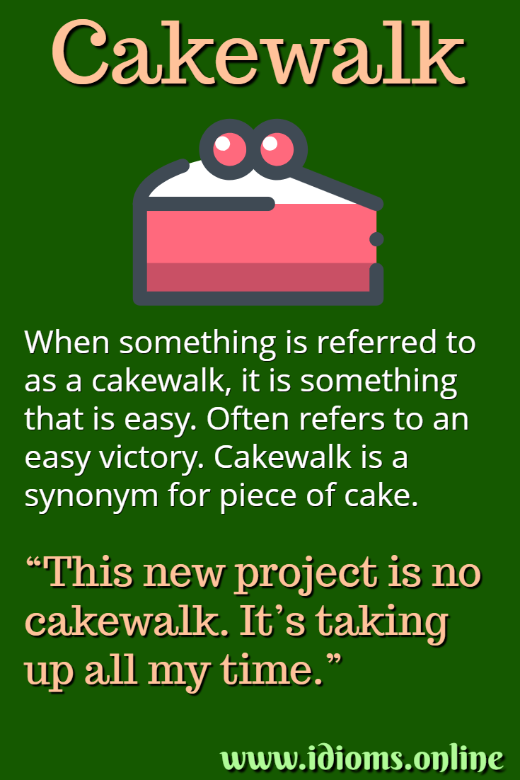 Meaning of idiom cakewalk