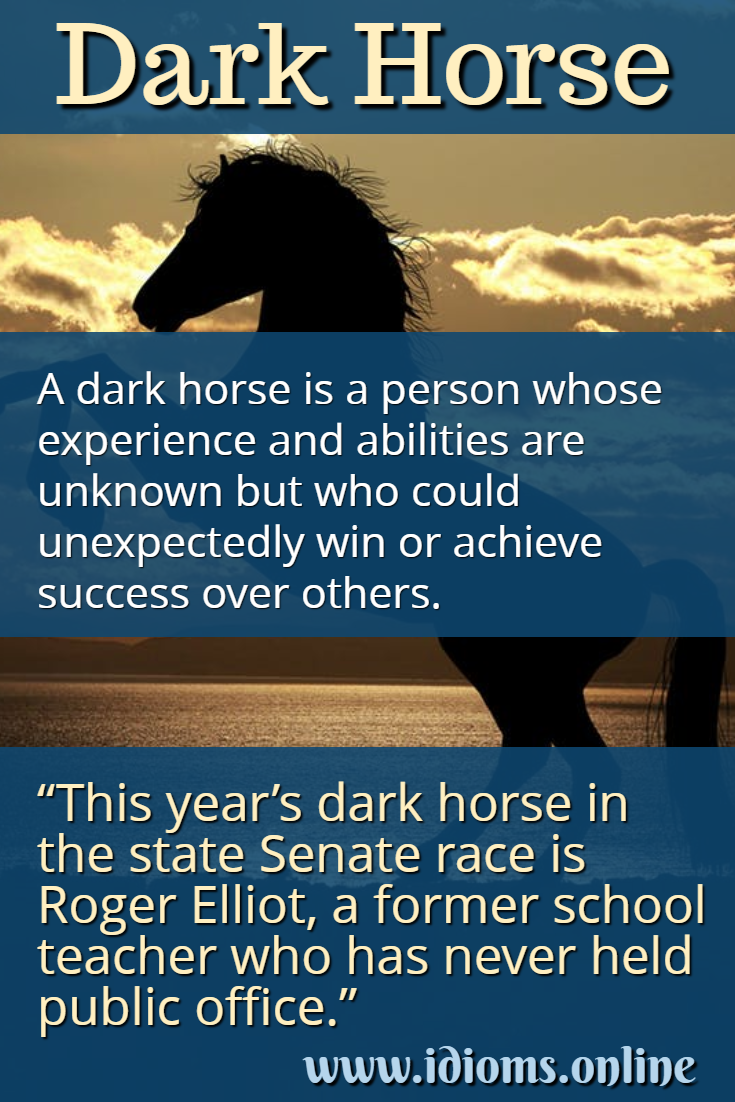 Dark horse idiom meaning