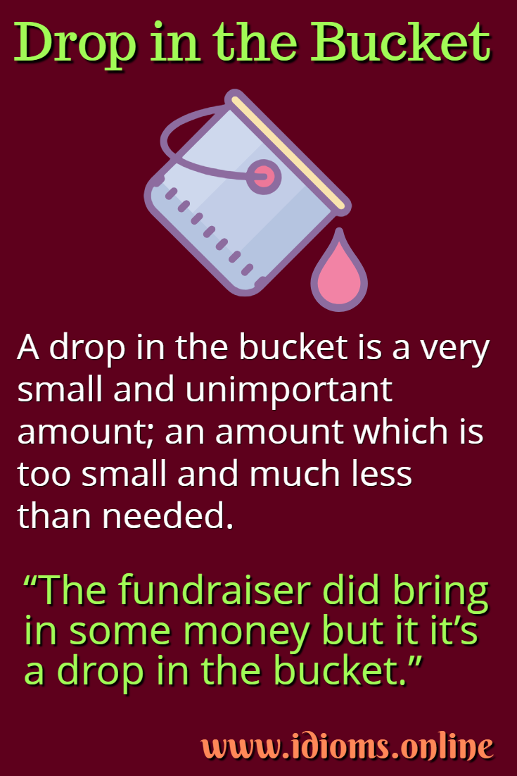 Drop in the bucket idiom meaning