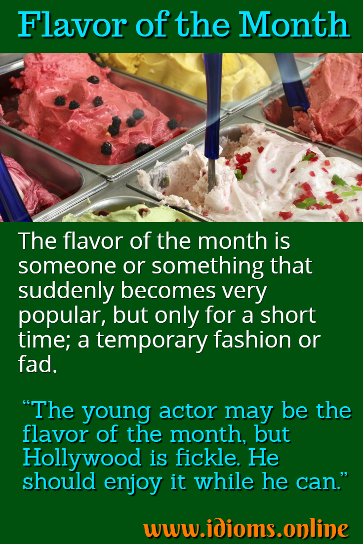Flavor of the month idiom meaning