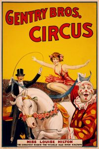 Gentry Bros circus, dog and pony show