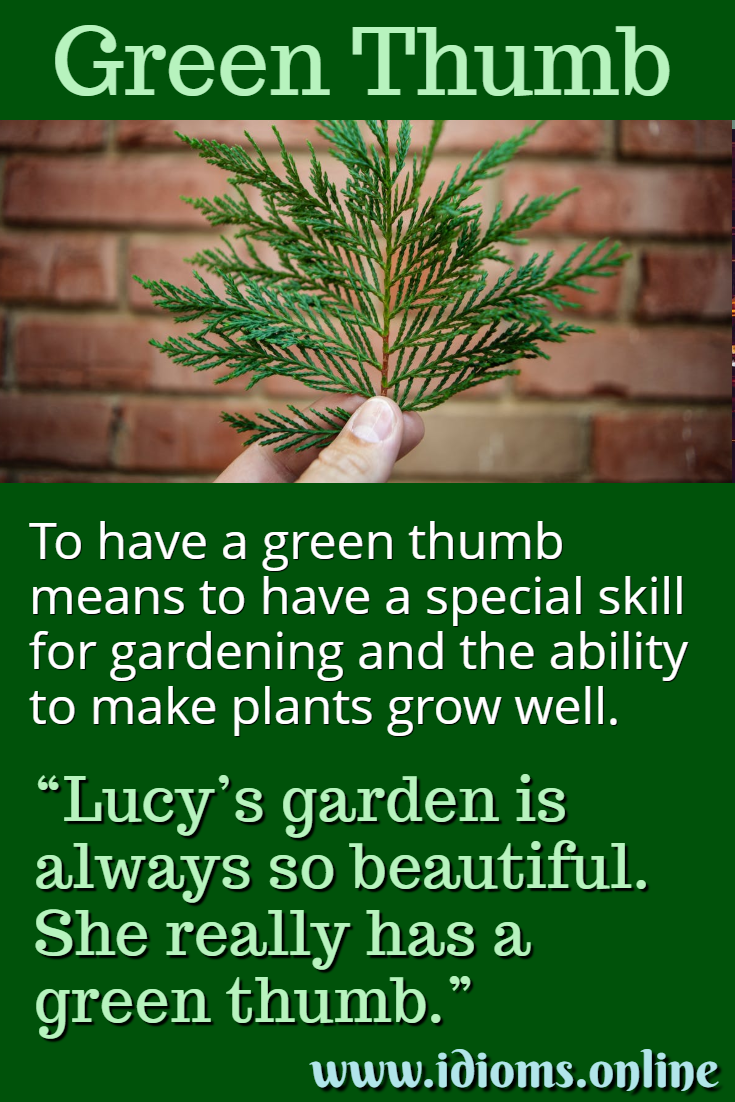 Green Thumb Have A Idioms Online