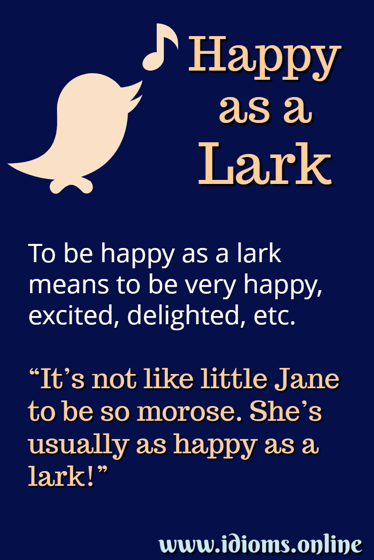 Meaning of idiom happy as a lark
