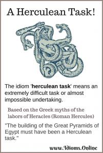 Herculean task idiom meaning and origin