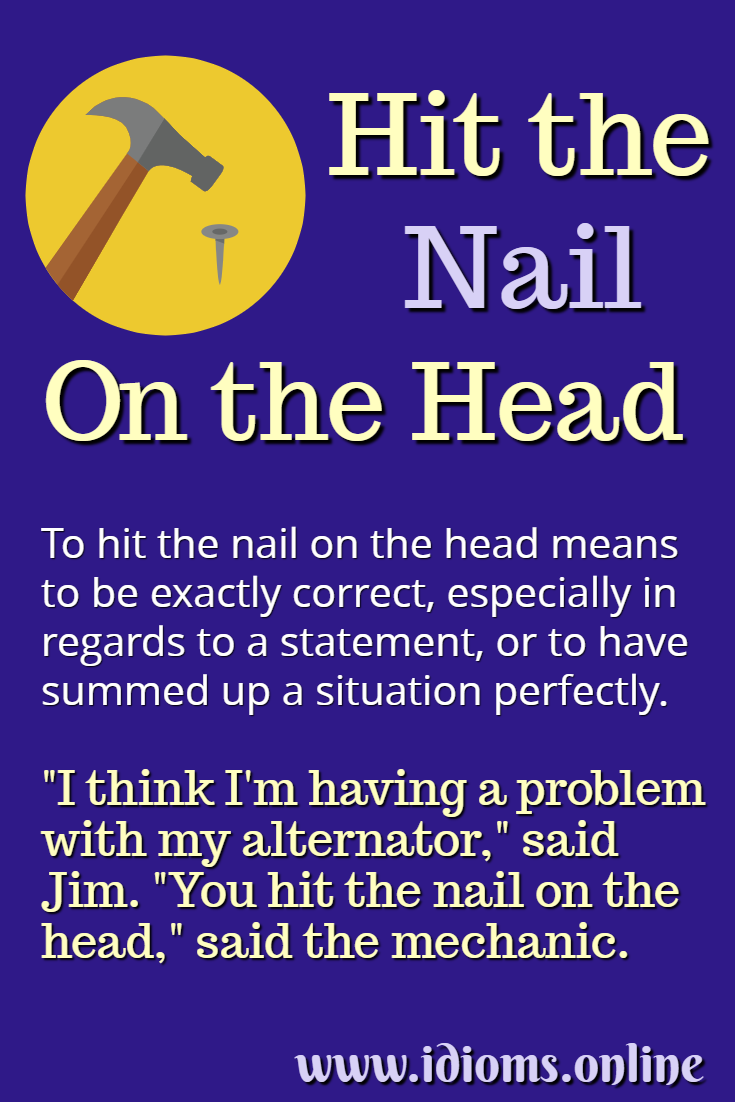 Hit the nail on the head idiom meaning