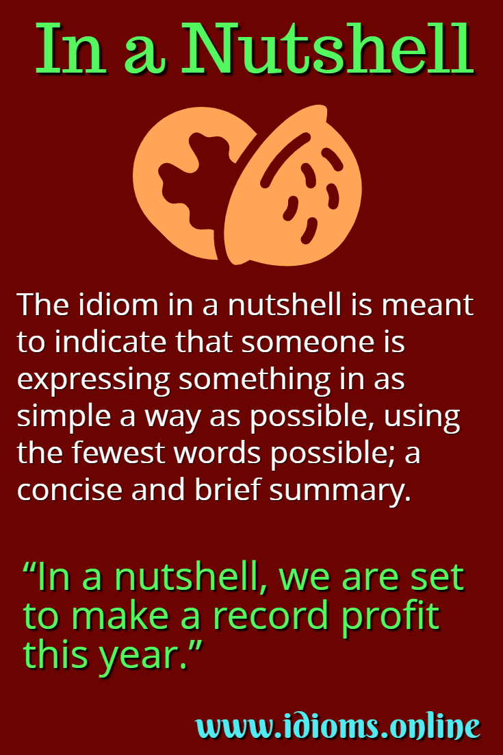In a nutshell idiom meaning