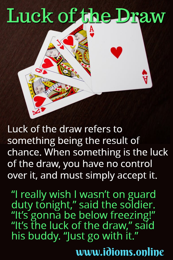 Luck of the draw idiom meaning
