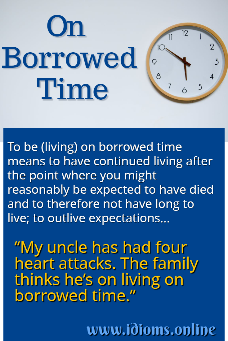 On borrowed time idiom meaning