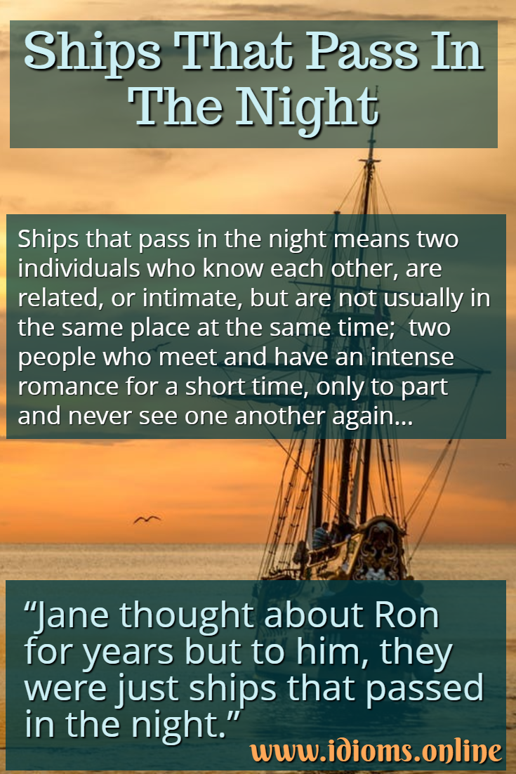Ships that pass in the night idiom meaning