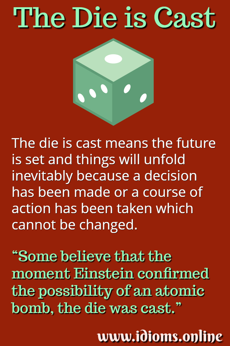 Meaning of idiom the die is cast