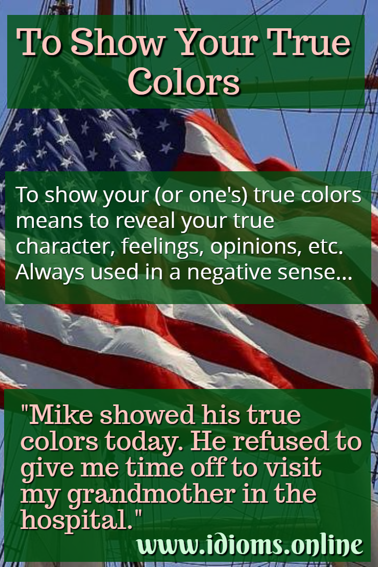 Show Your True Colors To Idioms Online