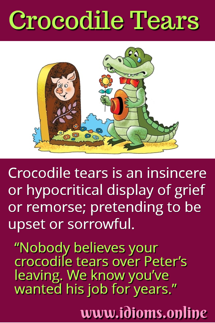 Crocodile tears idiom meaning