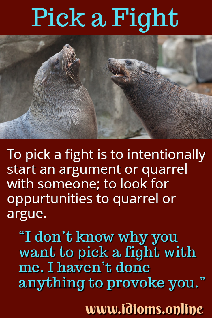 Pick a fight idiom meaning