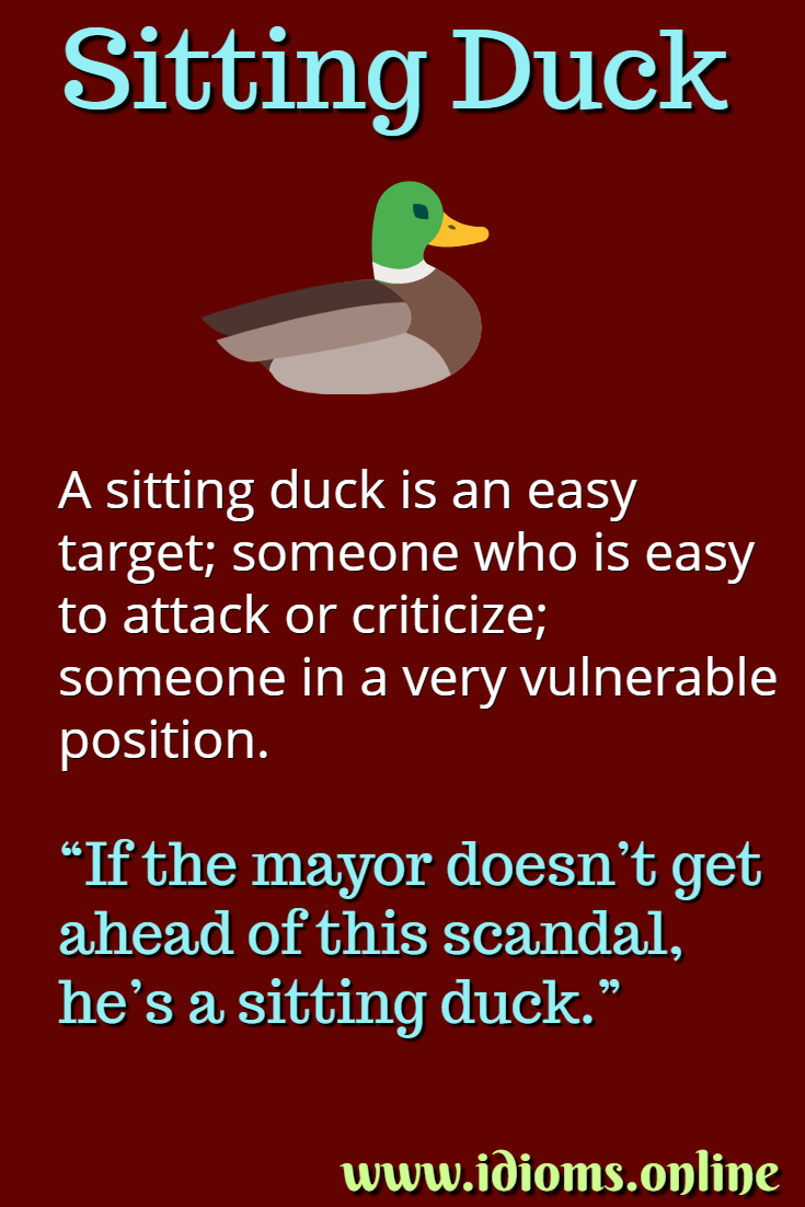 Sitting duck idiom meaning